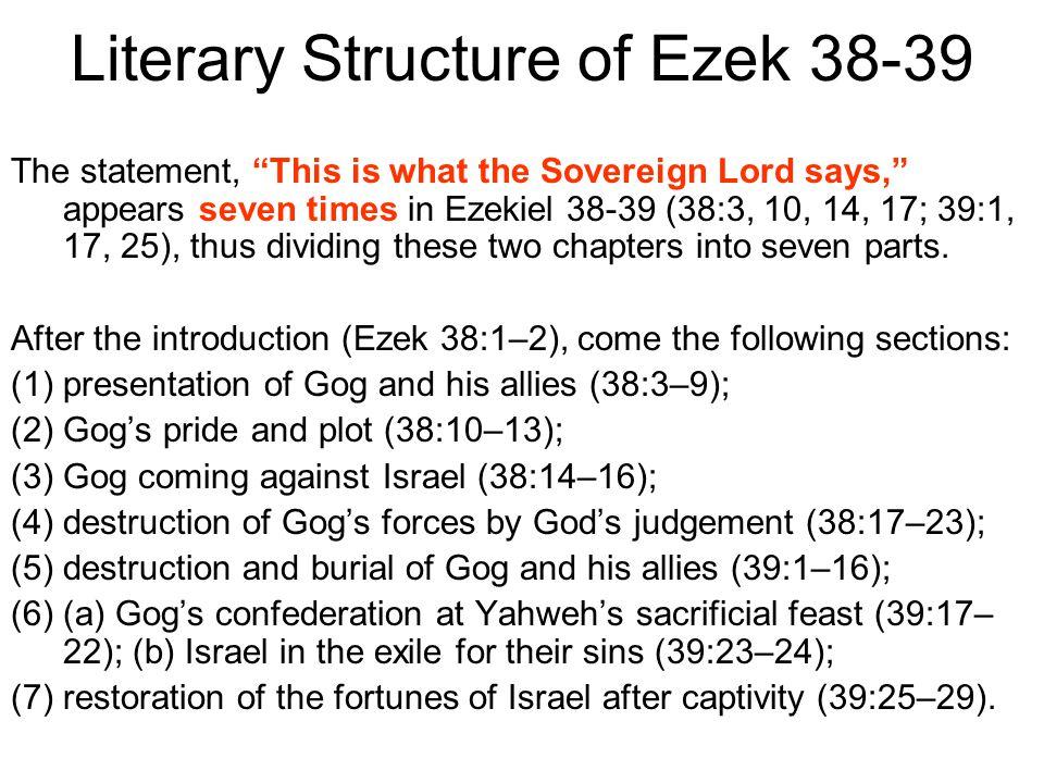 Literary Structure of Ezek 38-39
