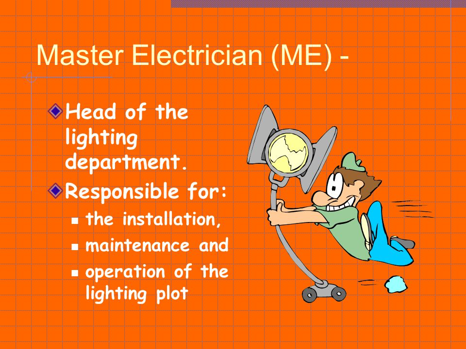 Master Electrician (ME) -