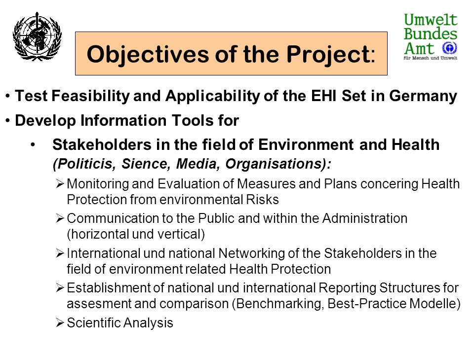 Objectives of the Project:
