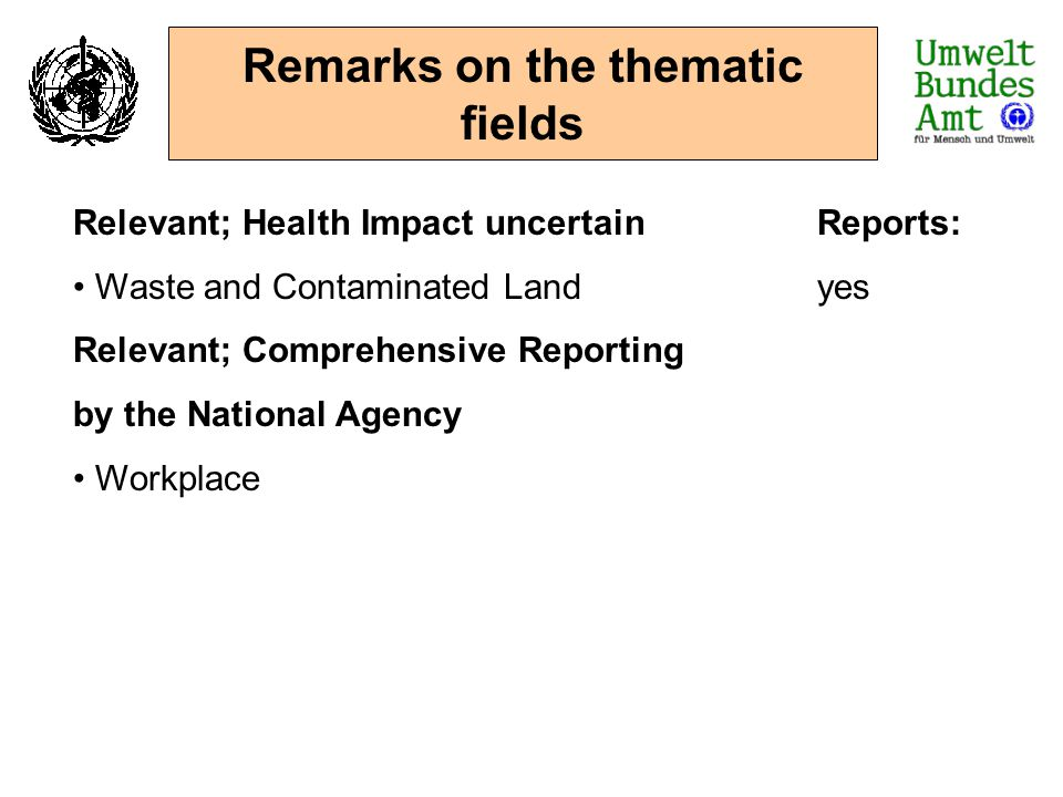 Remarks on the thematic fields