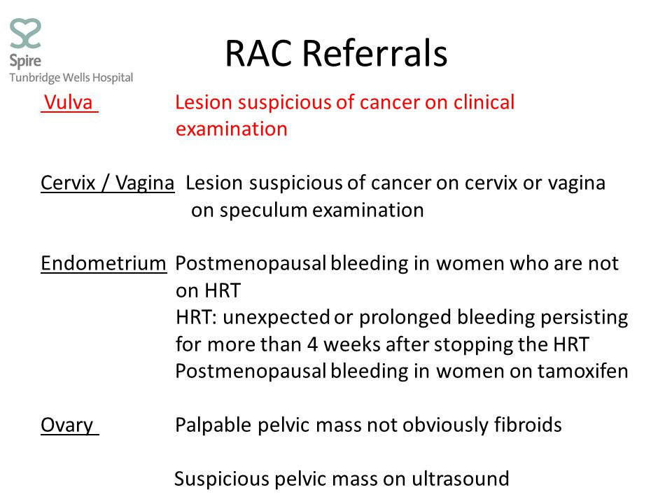 RAC Referrals examination