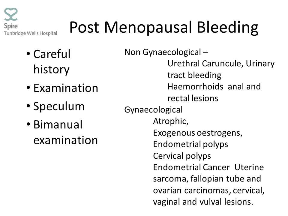 Post Menopausal Bleeding