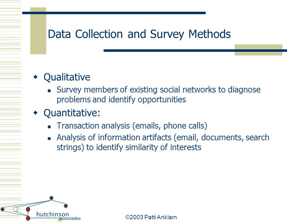 Data Collection and Survey Methods