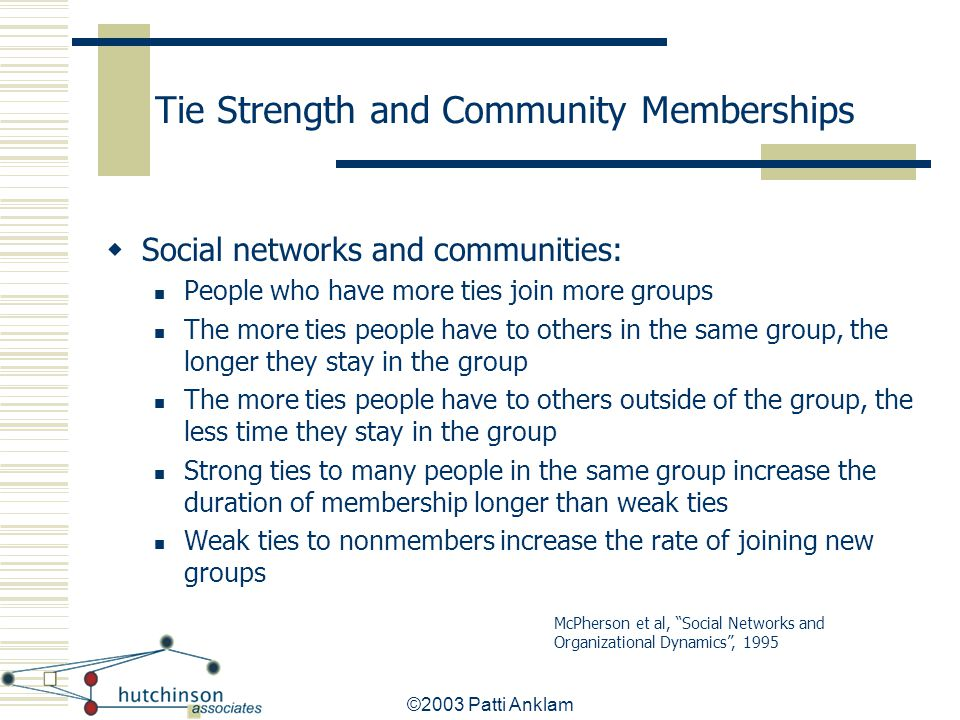 Tie Strength and Community Memberships