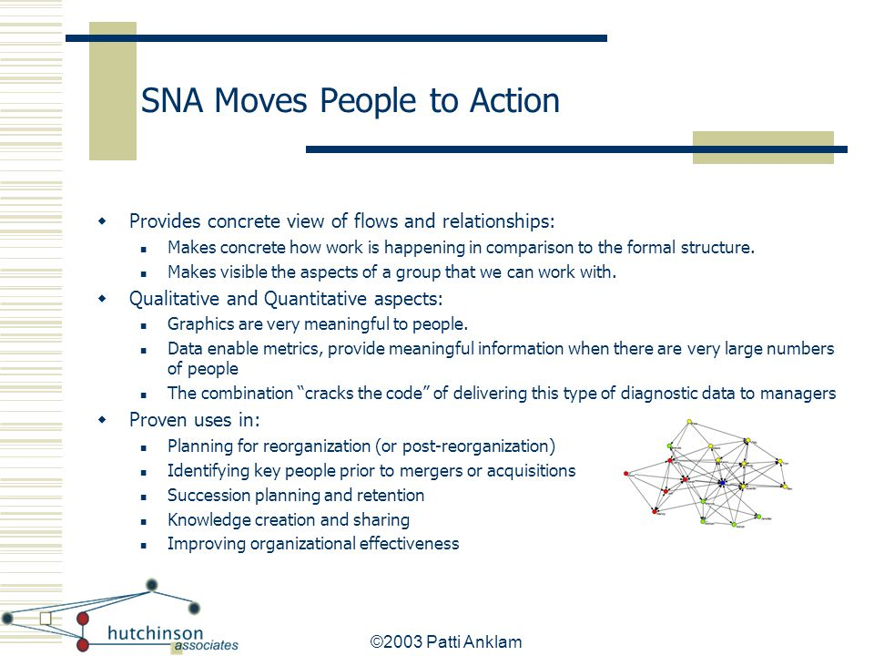 SNA Moves People to Action