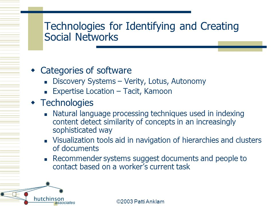 Technologies for Identifying and Creating Social Networks