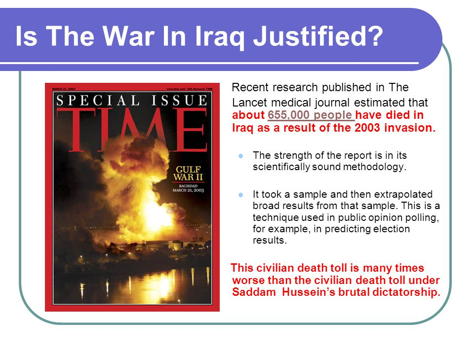 Is The War In Iraq Justified