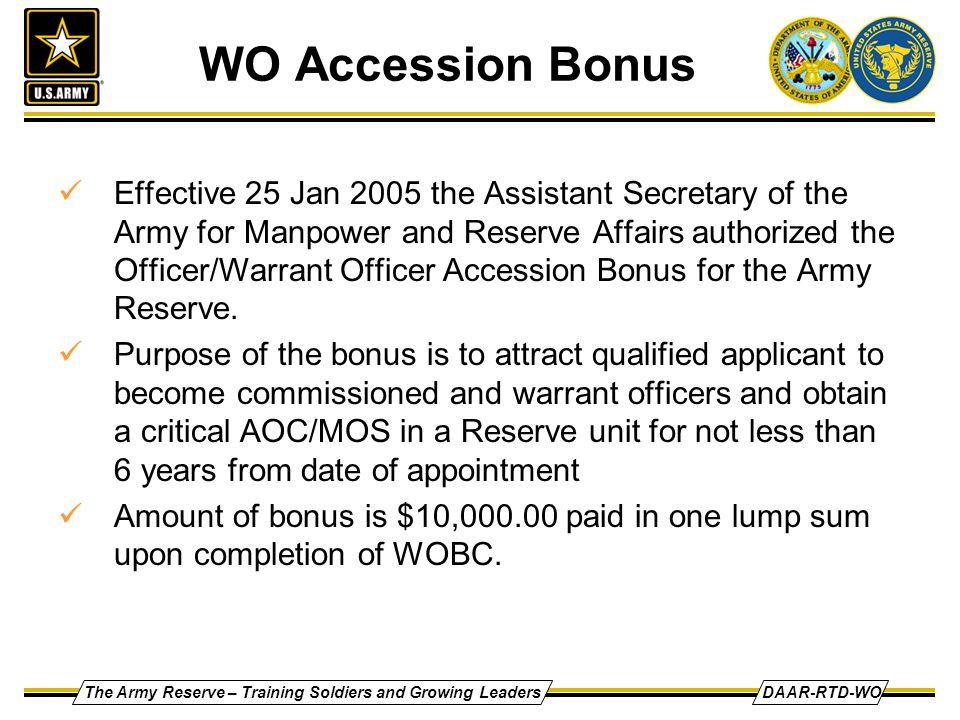 WO Accession Bonus
