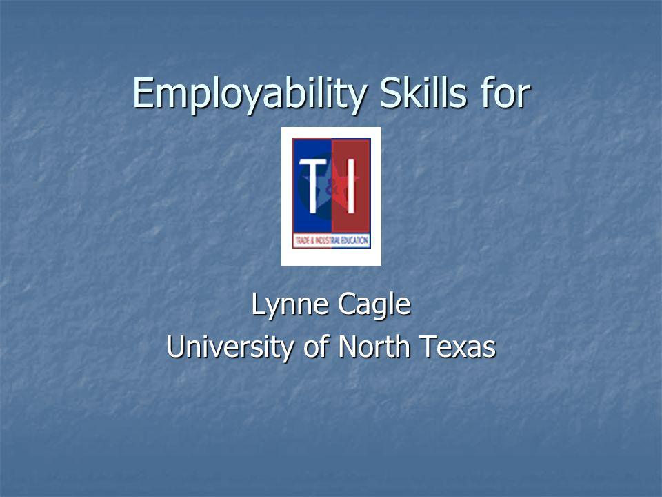 Employability Skills for