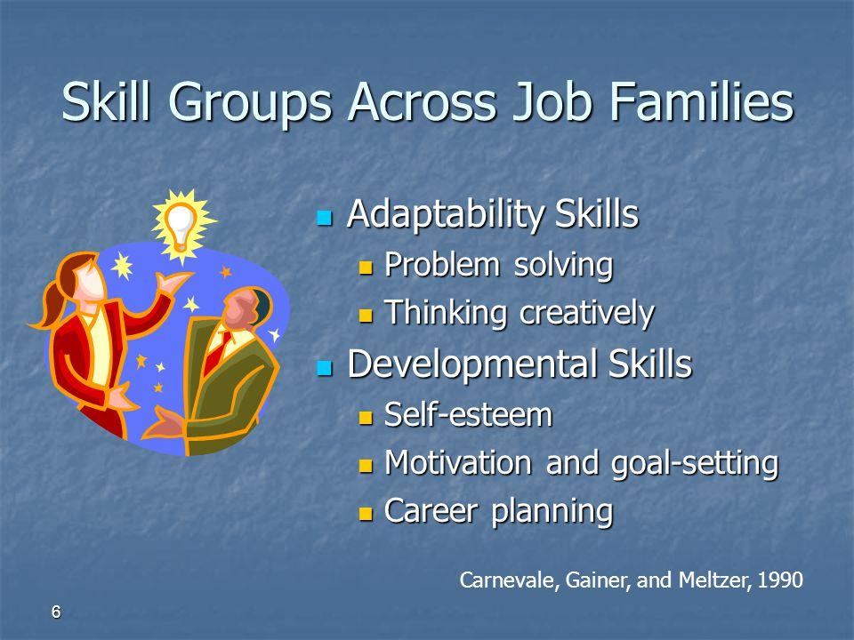 Skill Groups Across Job Families