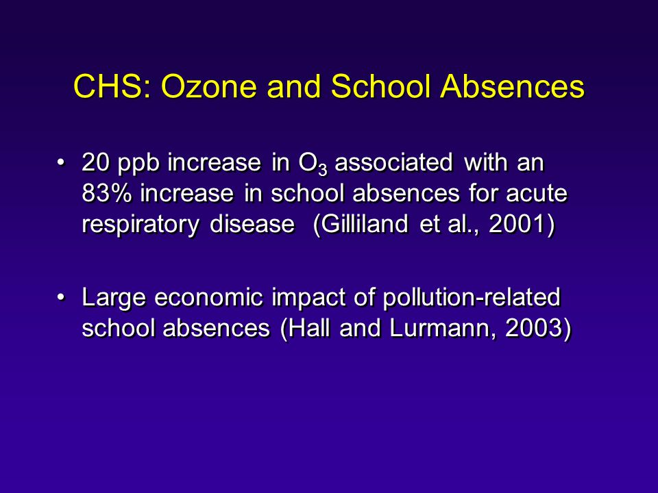 CHS: Ozone and School Absences