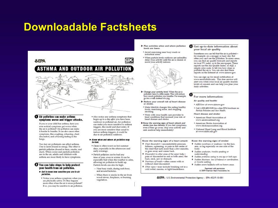 Downloadable Factsheets