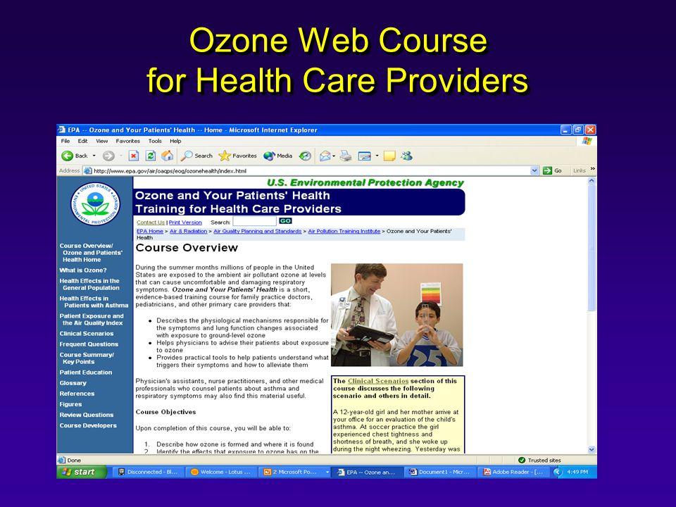 Ozone Web Course for Health Care Providers
