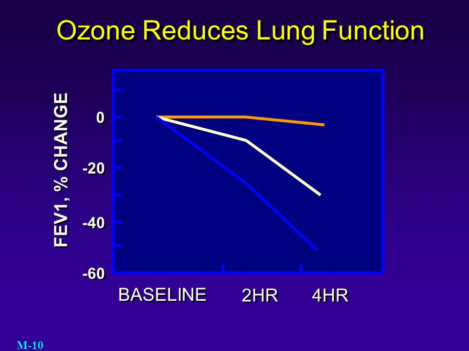 Ozone Reduces Lung Function