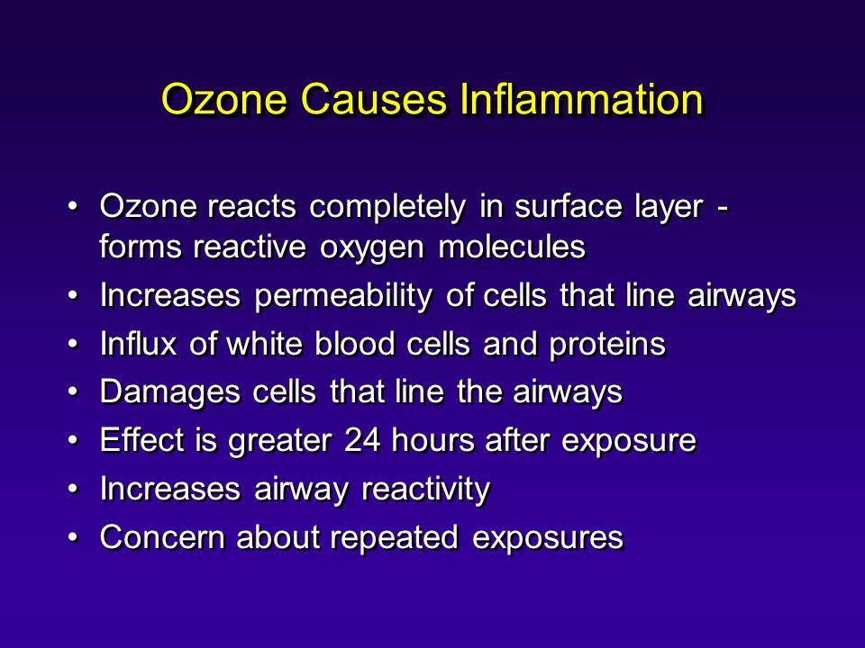 Ozone Causes Inflammation