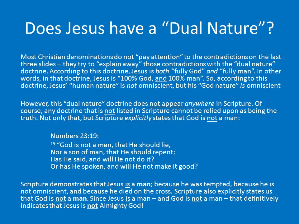 Does Jesus have a Dual Nature