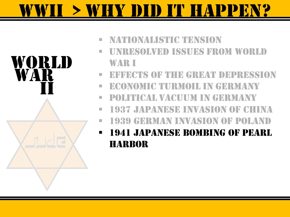WWII > why did it happen