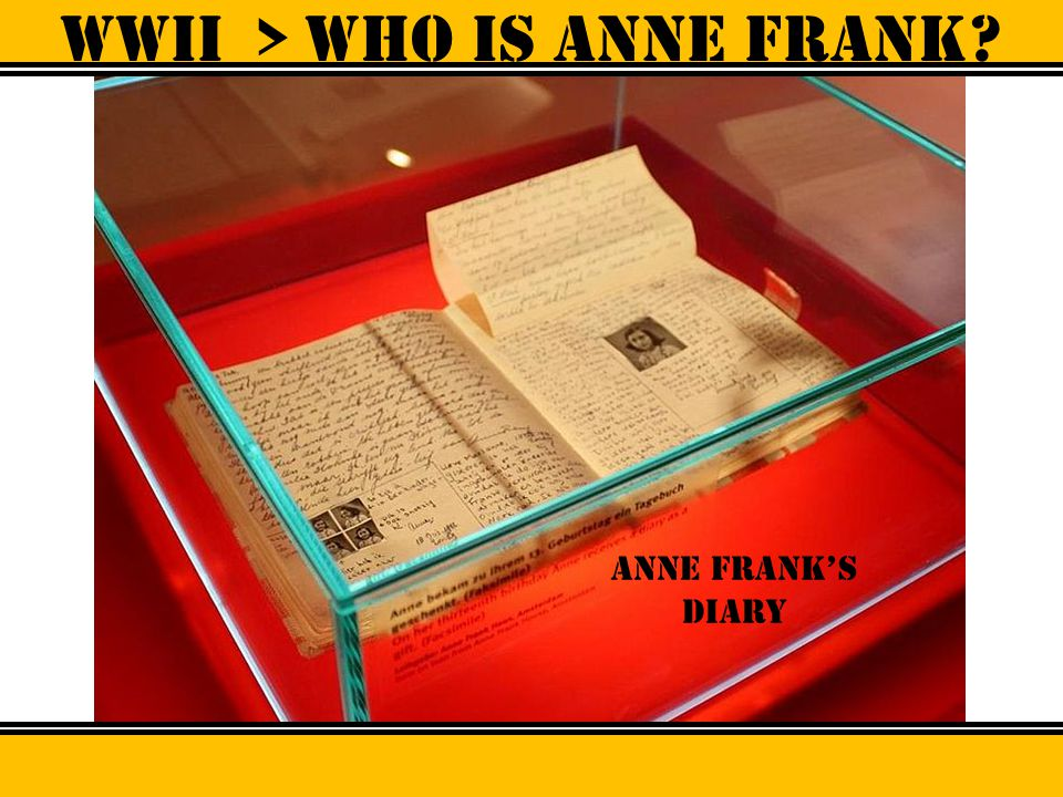 WWII > Who is anne frank