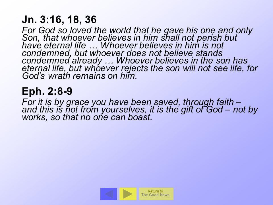 Jn. 3:16, 18, 36
