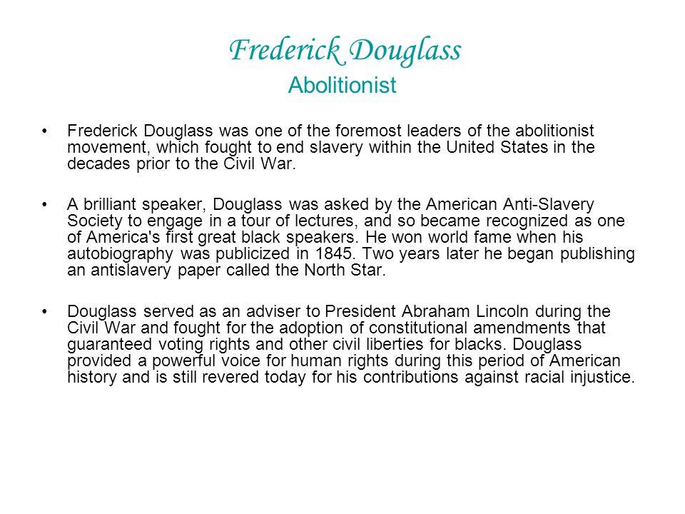 Frederick Douglass Abolitionist