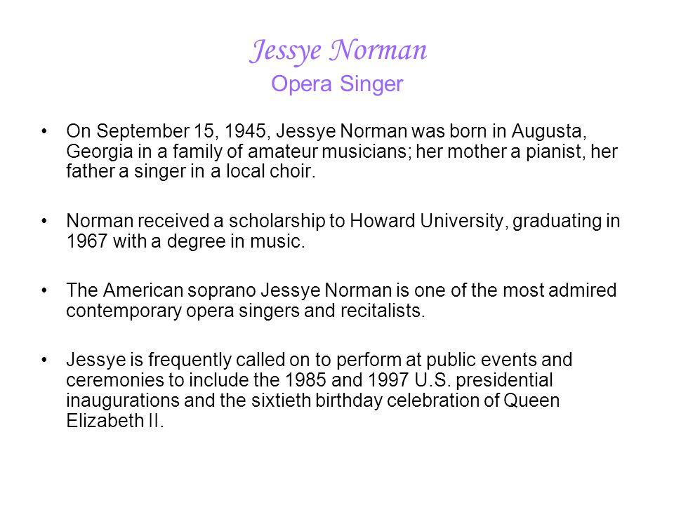 Jessye Norman Opera Singer