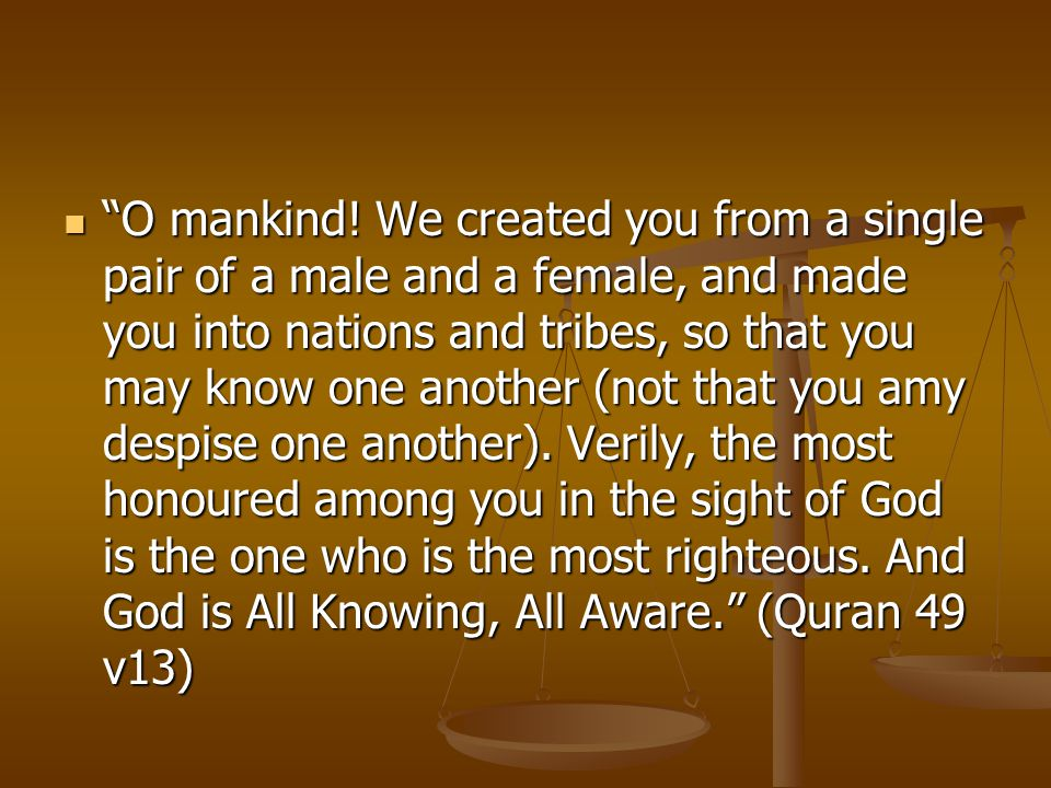 O mankind.