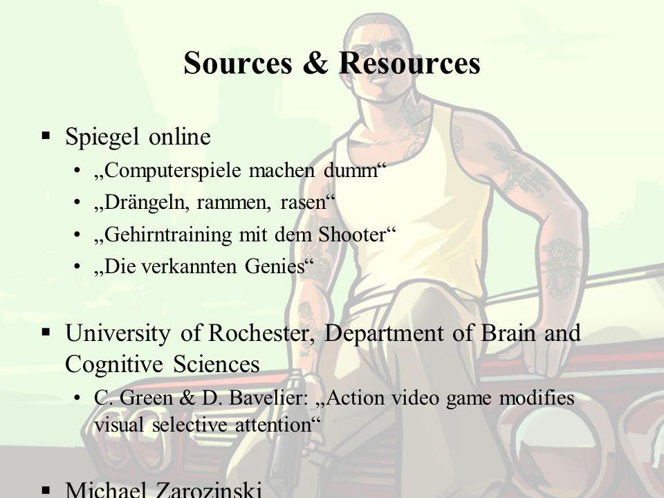 The End Sources & Resources Spiegel online