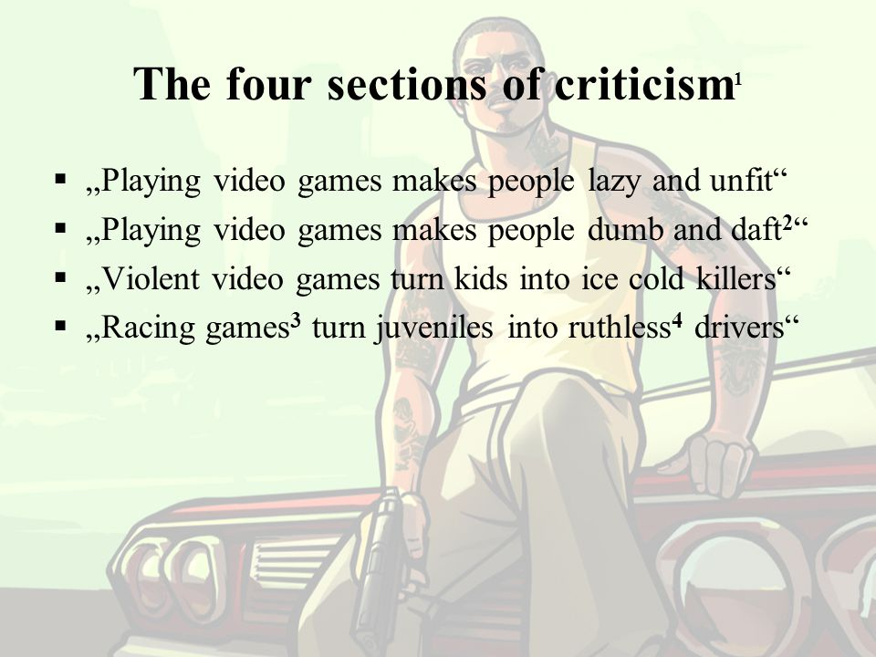 The four sections of criticism1