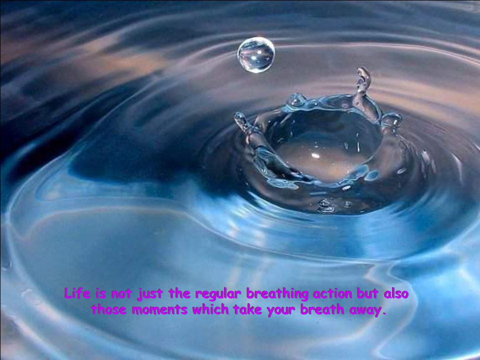 Life is not just the regular breathing action but also