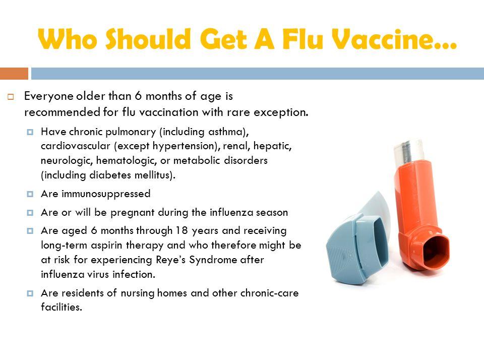 Who Should Get A Flu Vaccine…
