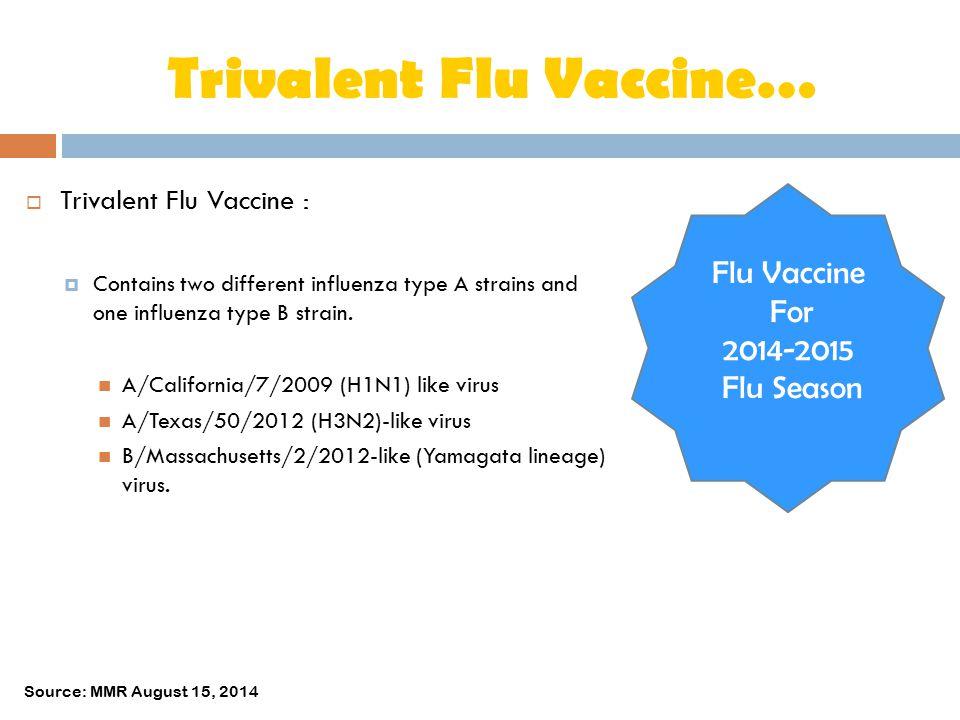 Trivalent Flu Vaccine…