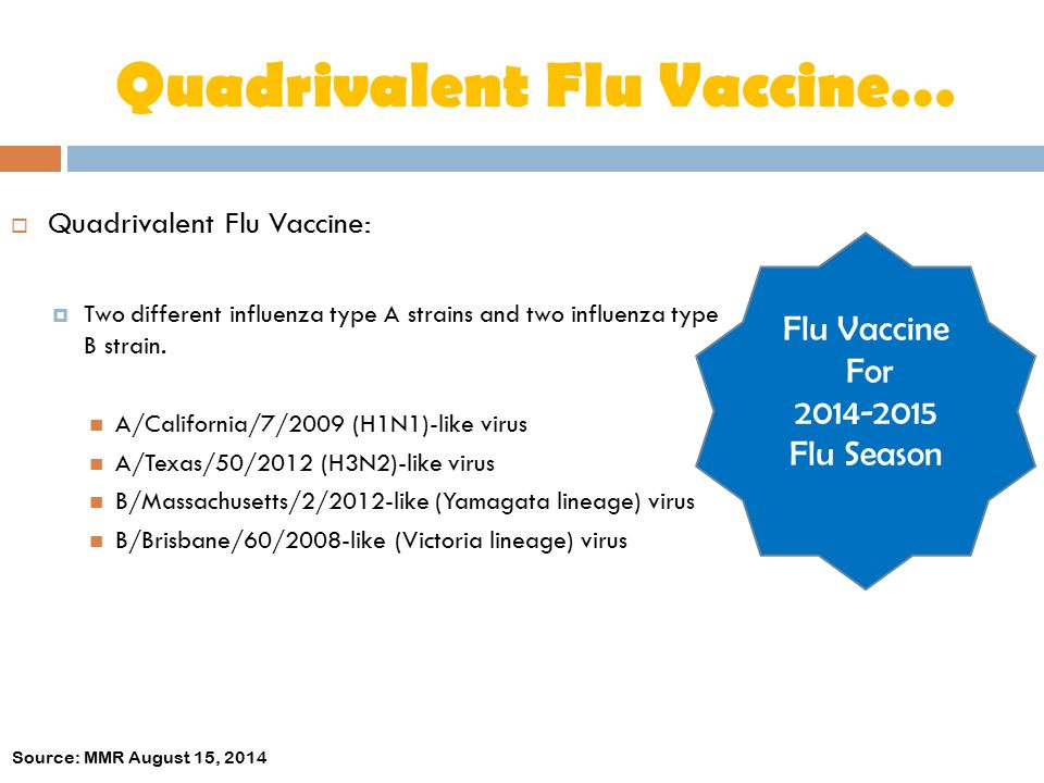 Quadrivalent Flu Vaccine…