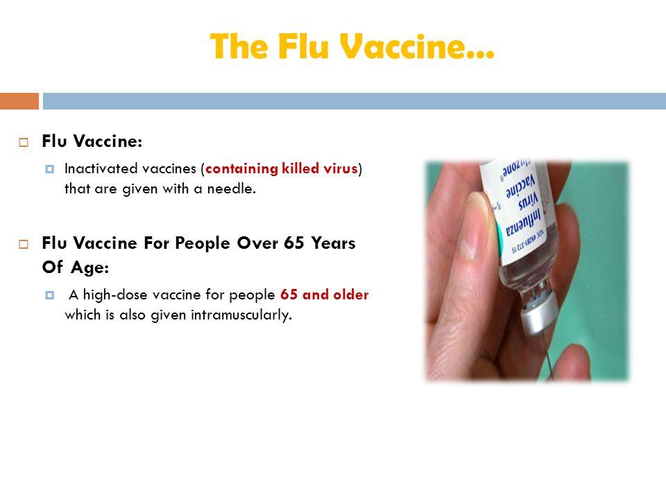 The Flu Vaccine… Flu Vaccine: