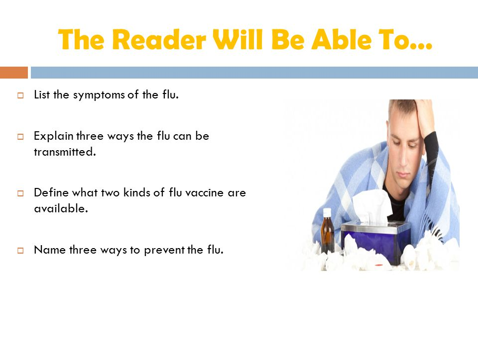 The Reader Will Be Able To…