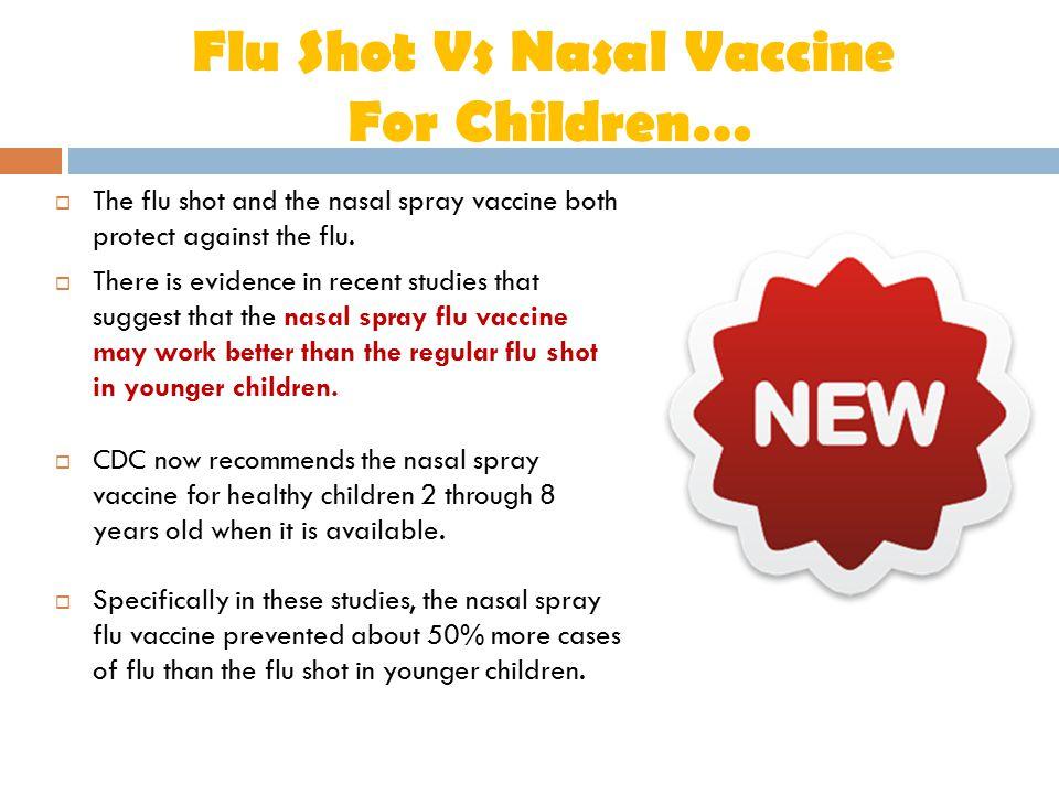 Flu Shot Vs Nasal Vaccine For Children…