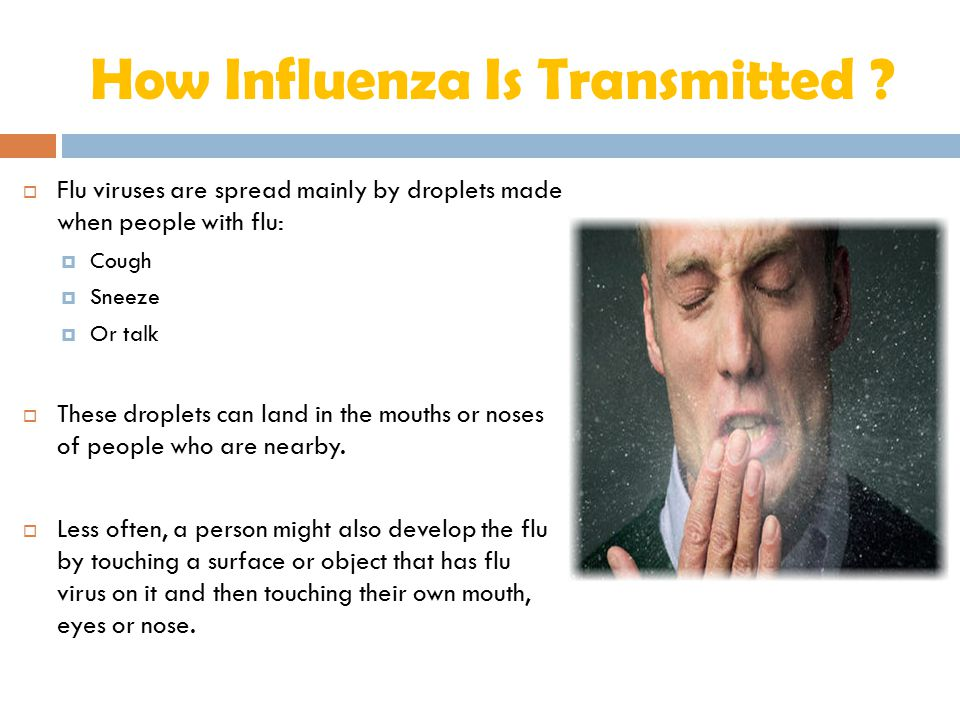 How Influenza Is Transmitted