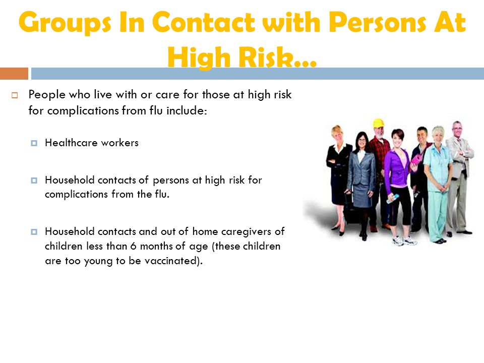 Groups In Contact with Persons At High Risk…