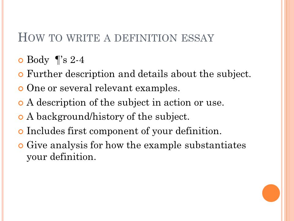 essay description