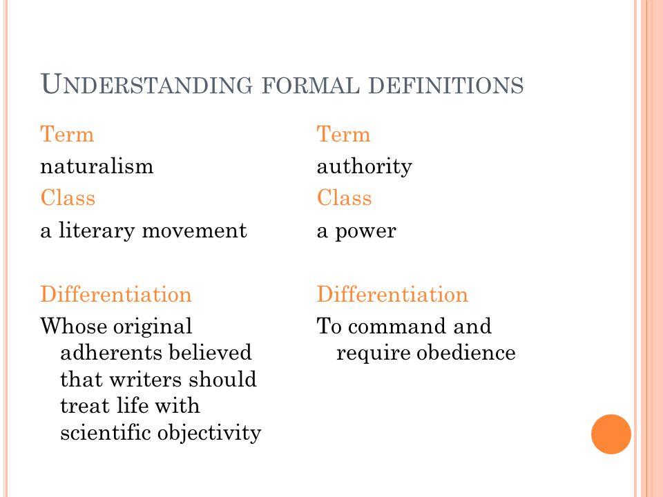 Understanding formal definitions