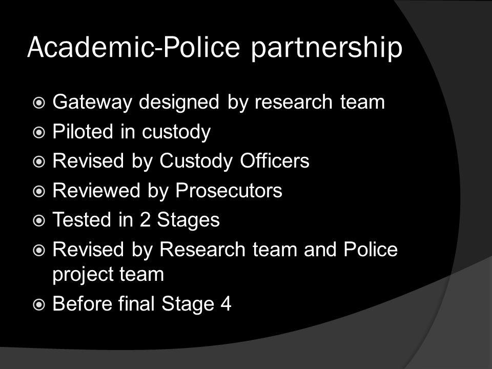 Academic-Police partnership