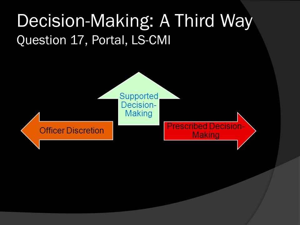 Decision-Making: A Third Way Question 17, Portal, LS-CMI
