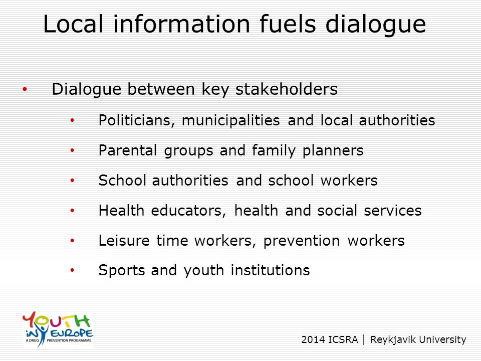 Local information fuels dialogue