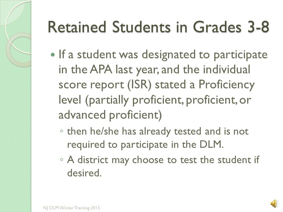 Retained Students in Grades 3-8