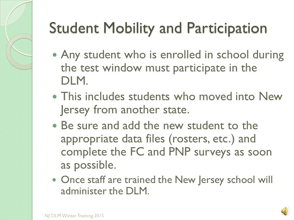 Student Mobility and Participation