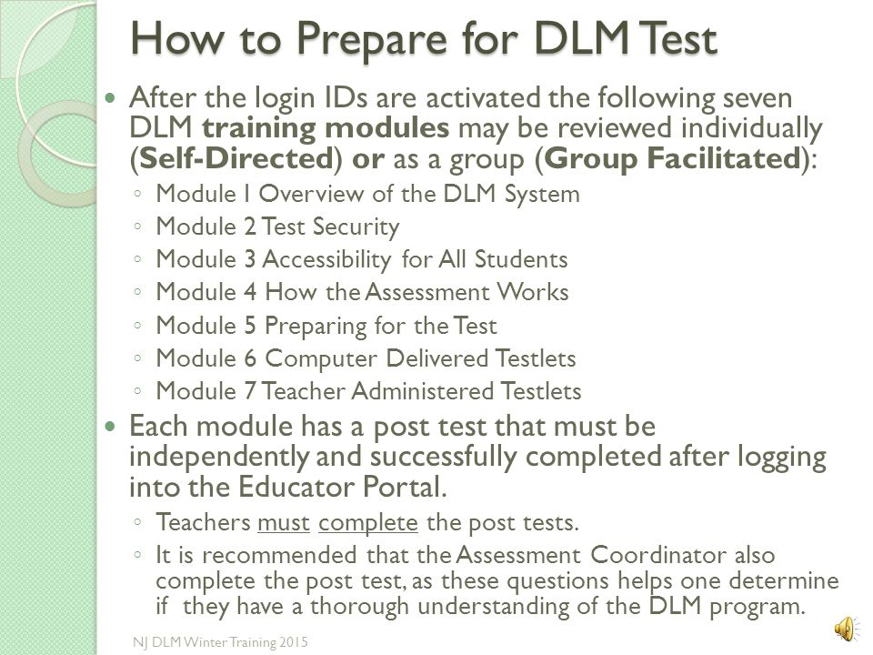 How to Prepare for DLM Test