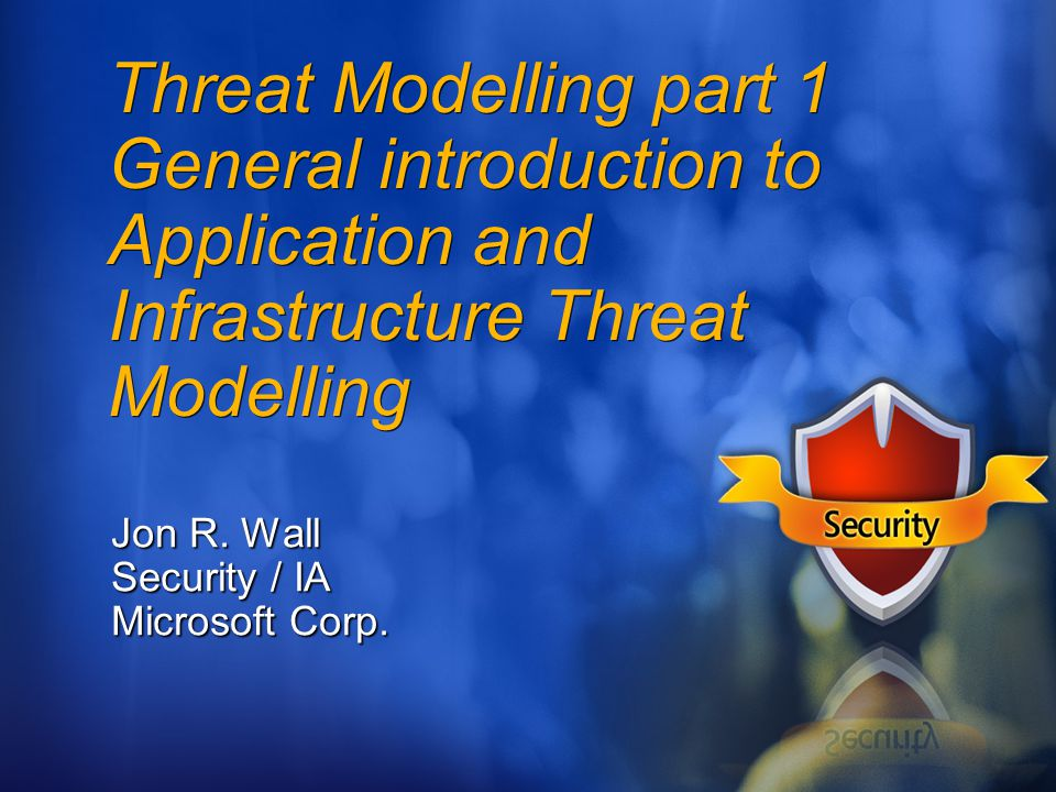 Jon R. Wall Security / IA Microsoft Corp.