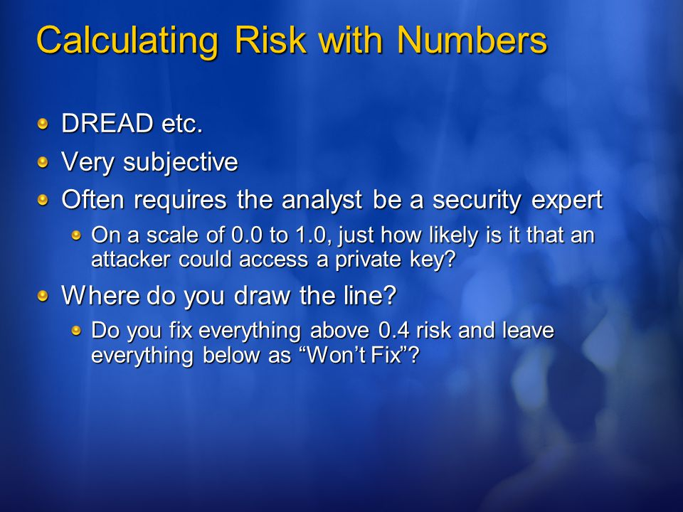 Calculating Risk with Numbers