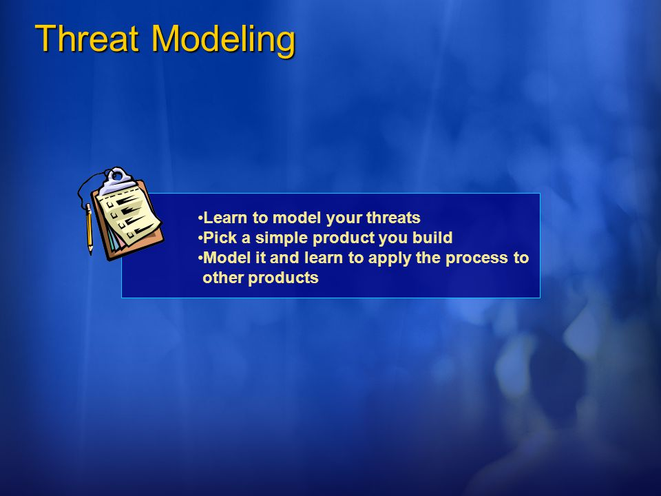 Threat Modeling Learn to model your threats