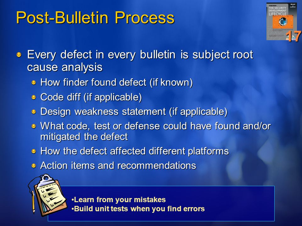 Post-Bulletin Process