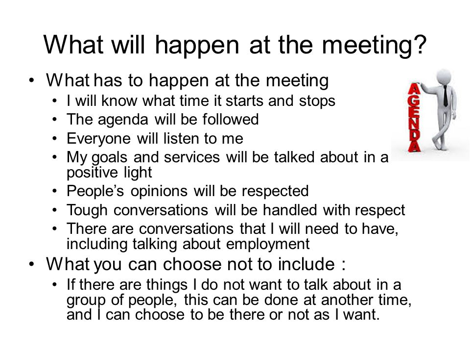 What will happen at the meeting